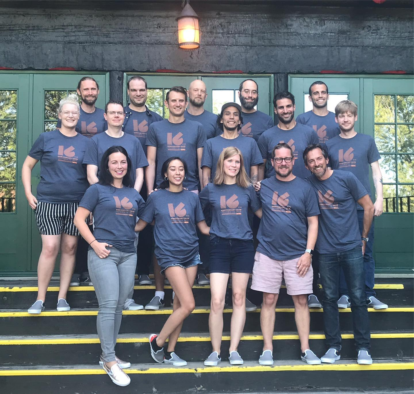 The Bandzoogle team poses for a group photo at one of their annual retreats.